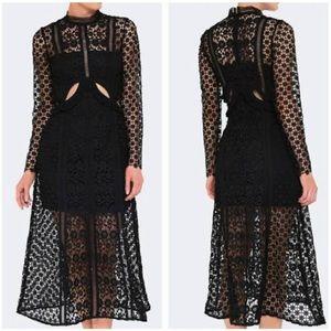 NWOT Self-Potrait Payne Lace Midi Dress